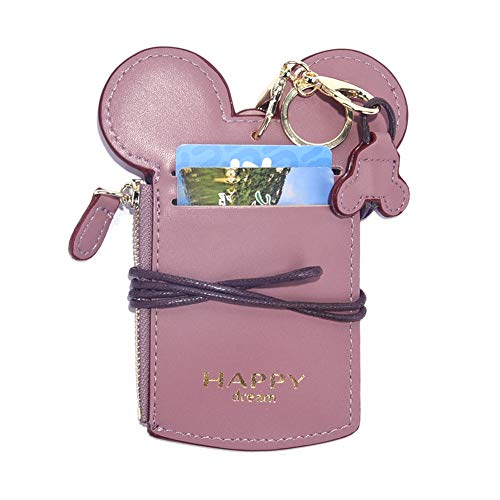 Badge Holder Neck Pouch Bag With Coin Wallet Purse For Kids Teens Girls Work Office ()