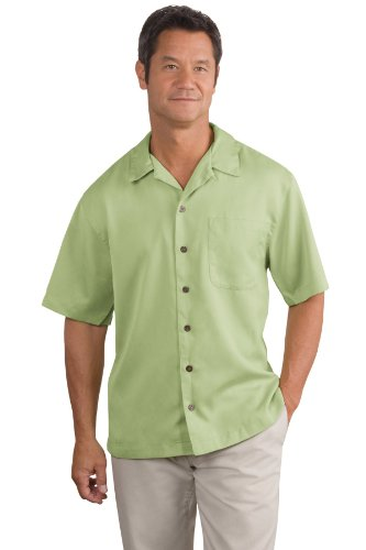 Stain Camp Resistant Shirt - Port Authority Men's Easy Care Camp Shirt 4XL Celery