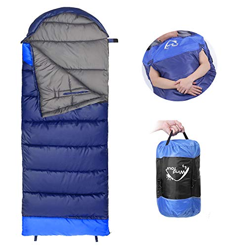 NACATIN Sleeping Bag for Adult, Sleeping Bags Ultralight with Compression Sack, Hand Free, -10 ° to 15 °Comfort for 3 Seasons Backpacking Hiking Camping