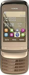 Nokia C2-06 Dual SIM - 32 MB, Gold