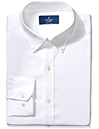 Buttoned Down Men's Non-Iron Fitted Pinpoint Button...
