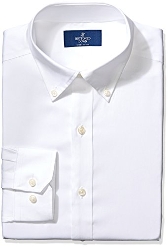 buttoned-down-mens-fitted-button-collar-non-iron-dress-shirt-white-19-neck-35-sleeve