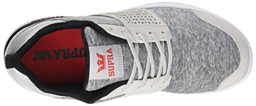 Light Men's White red Scissor Black Red Risk Trainers Supra Grey 0adYqW