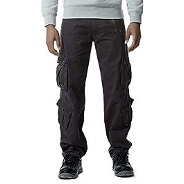 Gmardar Pantaloni Uomo Cargo Pantaloni da Lavoro con Multitasca Tasche Laterali Elegante Cotone 100% Larghi Fit Casual Taglie Forti Pantaloni Militari Estivi Invernali