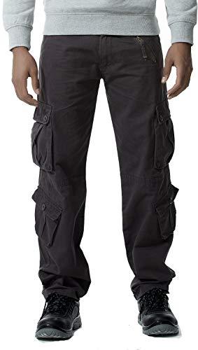 orologio 154f9 b21f5 Gmardar Pantaloni Uomo Cargo Pantaloni da Lavoro con Multitasca Tasche  Laterali Elegante Cotone 100% Larghi Fit Casual Taglie Forti Pantaloni  Militari ...