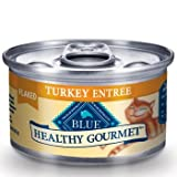 Blue Buffalo Healthy Gourmet Flaked Turkey Entree Adult Canned Cat Food, 3 oz., My Pet Supplies