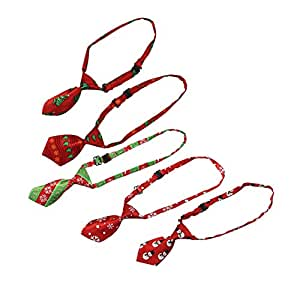 NUOBESTY 5 Piezas Corbata de Navidad Lentejuelas Mini Corbata ...