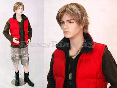 ((MD-Steve) ROXY DISPLAY Male mannequin, Teenager style, young and handsome.)