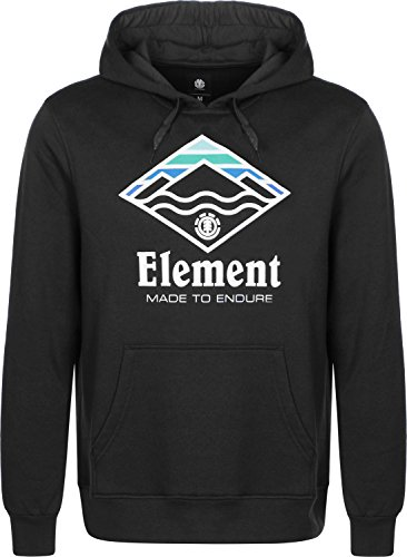 Element Black Cappuccio Uomo Hoodie Felpa Con Flint Layer pxpaqHSvwn