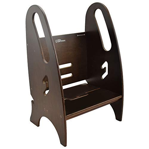 (Toddler & Adult Step Up Stool | 3-in-1 Adjustable Height Stepstool for Kitchen, Bathroom, or Nursery (Espresso))