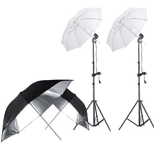 Continuous Lighting Umbrella Portrait Photography