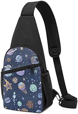 ボディ肩掛け 斜め掛け おもしろ宇宙 ショルダーバッグ ワンショルダーバッグ メンズ 軽量 大容量 多機能レジャーバックパック