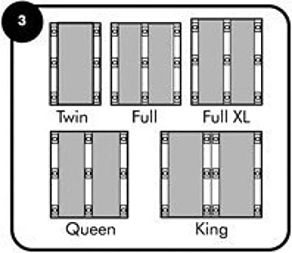 7 Bed legs for Full//Queen Boxspring Raise your bed with SleepLikeabears Universal Bedlegs Black Color