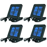 (4) MOULTRIE Game Camera 6 Volt Deluxe Solar Power Panels w/ Mounting Bracket