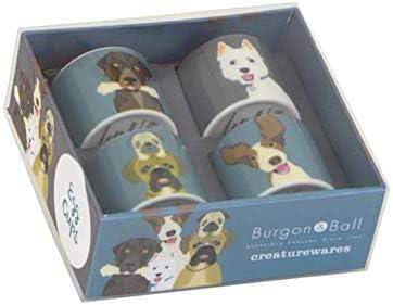 Burgon /& Ball Creaturewares GCR//EGGHEN Plucky Chicken Set of 4 Fine China Egg Cups