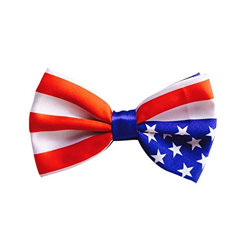 Real Spark Flag Style Pet Bow Tie,Adjustable Bowtie Fashion Accessories for Pet Dog Cat
