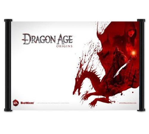 "Dragon Age Origins Game Fabric Wall Scroll Poster (26""x 16"") Inches"