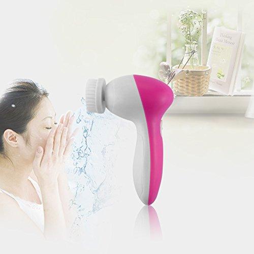 Ckeyin Многофункциональный водонепроницаемый Маленькая нейлоновая щетка, мягкую кисть, Massor, пемза, Face Губка 5 в 1 для лица и тела Моющие Массажер щетка - Дай вам высоко удовольствие и отдохнуть на уборку, может использовать при принятии ванны, самый
