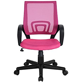 pink office chair with arms computer wohomo christmas gift for your girl computer desk chair pink office executive swivel task amazoncom