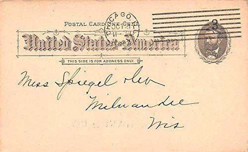Advertising Post Card A Stephani & Co Cedar Street, New York, NY USA 1893 ()