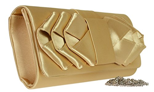 Elegant Colors Occasions Handbags Events Shoulder Retro Wedding Clutch Prom Bag Gold Pleats Satin Bride Girly gBqWvYw8Y