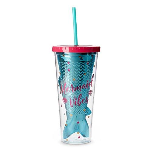 Tri-coastal Design Fun Mermaid Plastic Cup Tumblers (Mermaid Vibes)