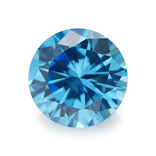 (100PCS Size 1.5mm 5A Round Machine Cut Milddle Aquamarine Color Cubic Zirconia Stone SeaBlue Loose CZ Stones (1.5mm 100pcs))