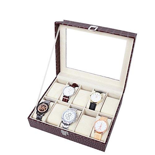 TRE Crocodile pattern watch box in glass roof/ watch storage box/...