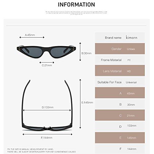 Pequeña De Plástico Tortuga De Metal De Ojos Gafas K0578 amp;marrón kimorn Mujer Sol Bisagras Marco De Gato Para 8Sx6xq1O