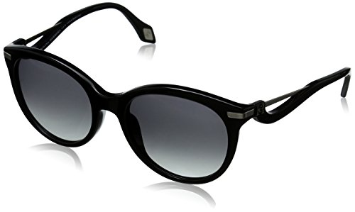 Carolina Herrera Women's SHN546M52700X Round Sunglasses, Shiny Black & Smoke Gradient, 52 - Carolina Sunglasses 2015 Herrera
