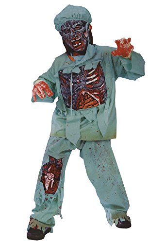 [GTH Boy's Zombie Doctor Kids Child Fancy Dress Party Halloween Costume, M (8-10)] (Kids Zombie Doctor Costumes)