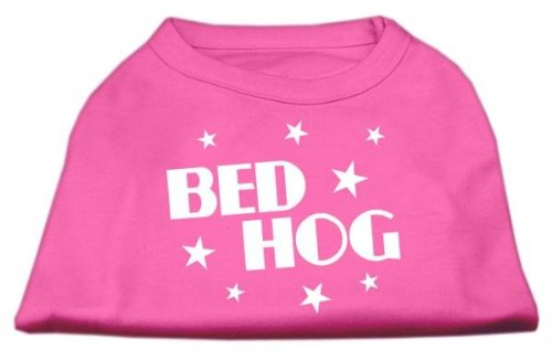 Dog Hog Pet Bed - Mirage Pet Products 12-Inch Bed Hog Screen Printed Shirt, Medium, Bright Pink