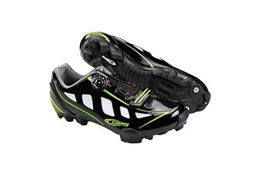 Ges Manufacturas S.A. MTB Rider Zapatillas, Unisex Negro Brillo/Verde Fluo
