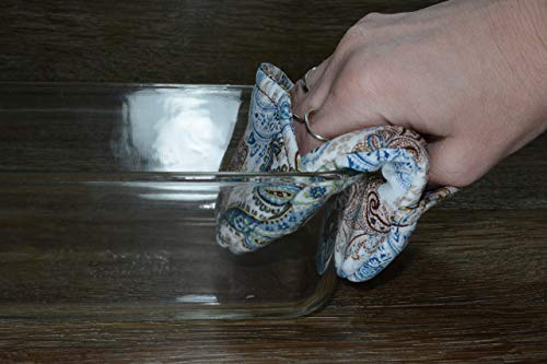 Mini Oven Mitts // Set of 2 // Fingertip Oven Mitts // Botanical Paisley