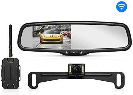 AUTO-VOX T1400 Upgrade Wireless Backup Camera Kit, Easy Installation on
