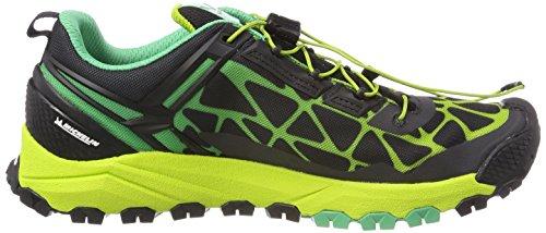 Calzado De Trail Running Salewa Hombres Multi Track-m Black / Ming Green