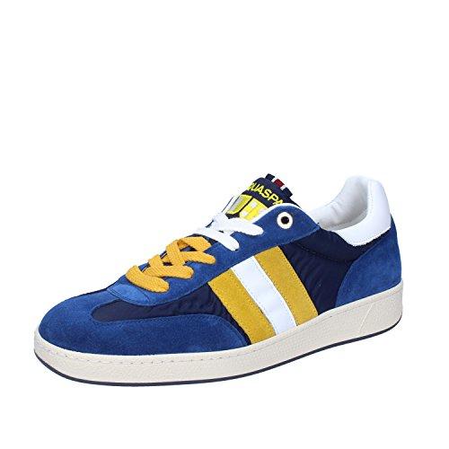 D'Acquasparta Sneakers Uomo 42 EU Blu Camoscio/Tessuto