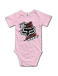 IEEFTA Fox Racing Logo Baby Climbing Clothes Bodysuit