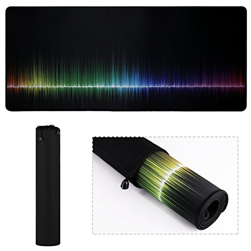 XL Mouse Pad, Extended Gaming Rainbow Mouse Pad/Extended Desk Pad-Mousepad long Non-Slip Rubber Mice Pads Stitched Edges With Portable Bag