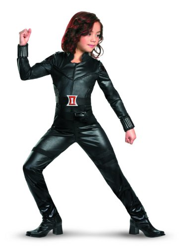 Avengers Black Widow Deluxe Costume, Black, Small