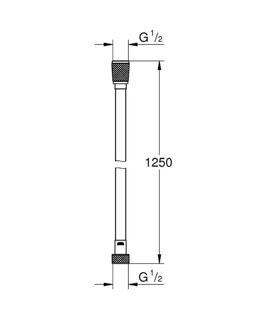 Grohe Silverflex Longlife flexo 12bar 1,25m Ref 26335000