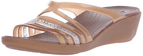 Isabellaminwdg Mules bronze Femme Crocs Chaussons Or nRZAqx1wWx