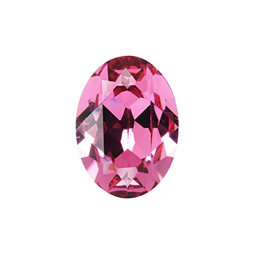 (Swarovski Crystal, 4120 Oval Fancy Stones 18x13mm, 1 Piece, Rose F)