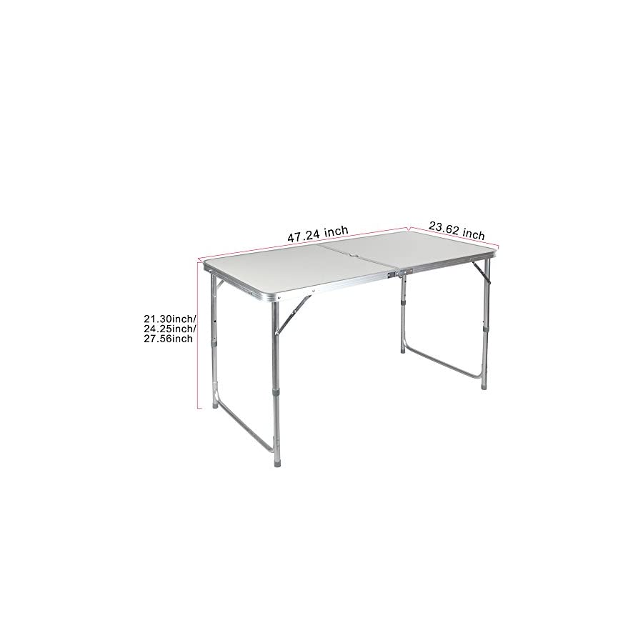 Portable Height Adjustable Aluminum Folding Camping Table FT ACFT1