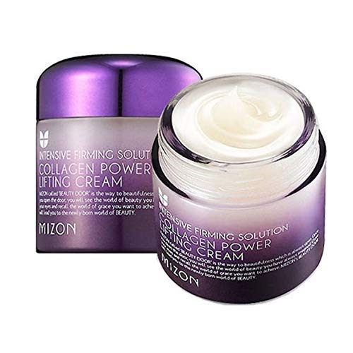Collagen Power Lifting Cream, Collagen Face Moisturizer by Mizon, Day and Night Cream, Facial Cream to Smooth Wrinkles, Non-Greasy and Non-sticky Formula, Lifting and Tightening 75ml