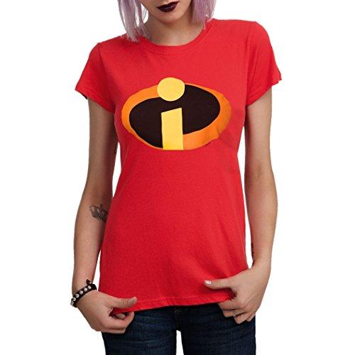 The Incredibles Symbol Junior Girls T-Shirt-Junior Large [JL] (The Incredibles Woman)