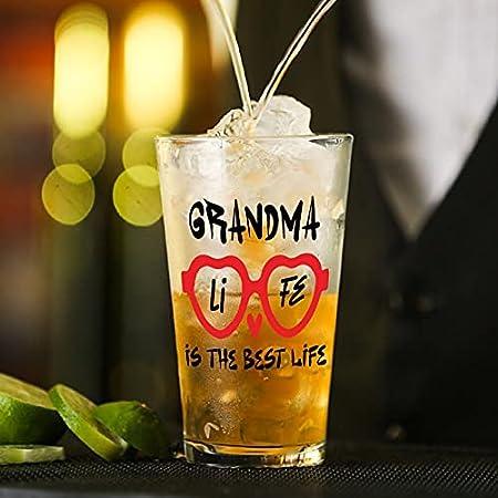 Copa de cristal Grandma Life es el mejor vaso de vida para agua, zumo, cerveza, licor, whisky en boda, fiesta, día de la madre, día del padre, cumpleaños.