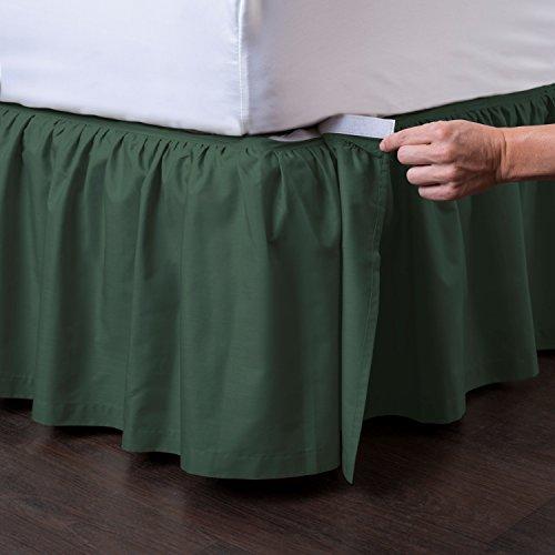 Ashton Detachable Bedskirt (Full Size, Hunter, 14
