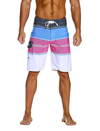 2769277b94 Nonwe Men's Sportwear Quick Dry Board Shorts with Lining Pink 40