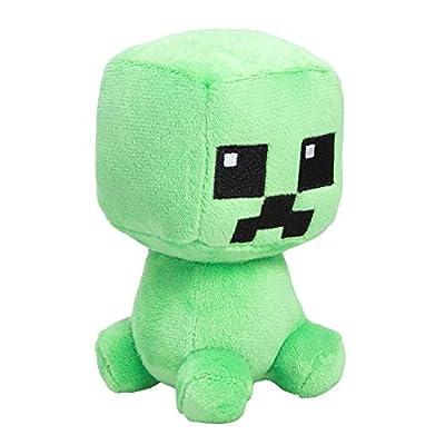 """JINX Minecraft Mini Crafter Creeper Plush Stuffed Toy, Green, 4.5"""" Tall"""
